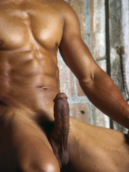 Naked ebony straights posing naked on..