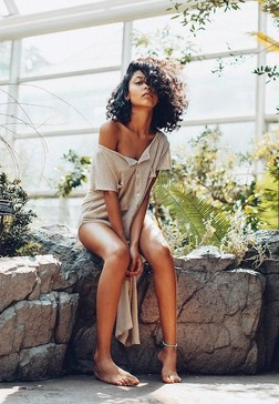 Art photo, black fashion model with a..