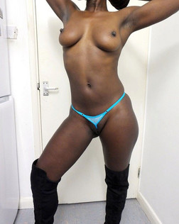 Naked fat ebony milf in big boots. she..