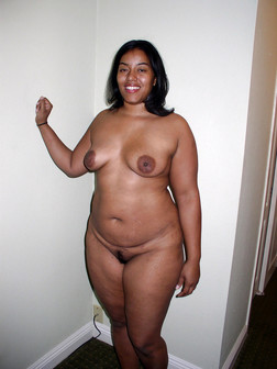 Thick ebony wife posing nude in these..