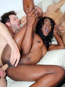 Pretty black pornstar Ana Foxxx..