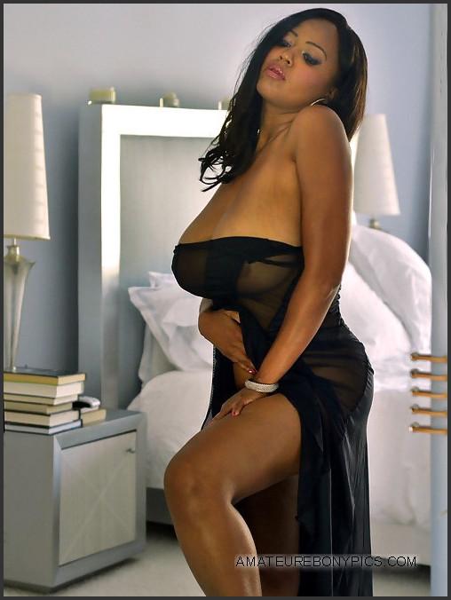 Ebony long tits